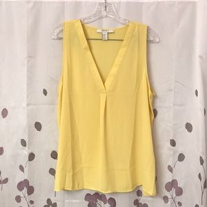 Forever 21 Yellow V Neck Tank Top XL